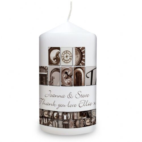 Personalised Affection Art Godparents Candle